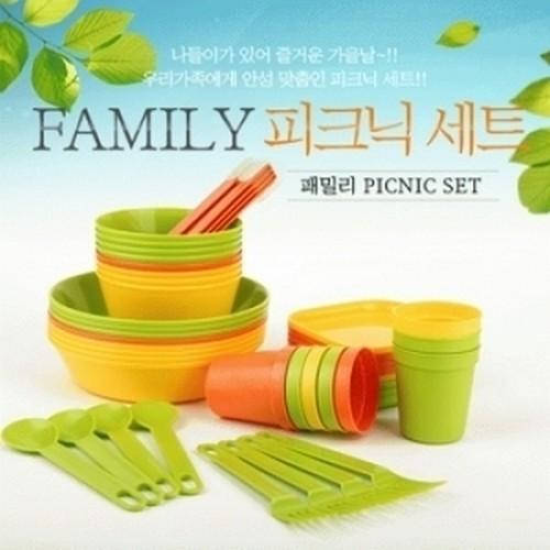 아이세이프몰-친환경제품 사탕수수로 만든 캠핑용 피크닉식기세트 50pcs